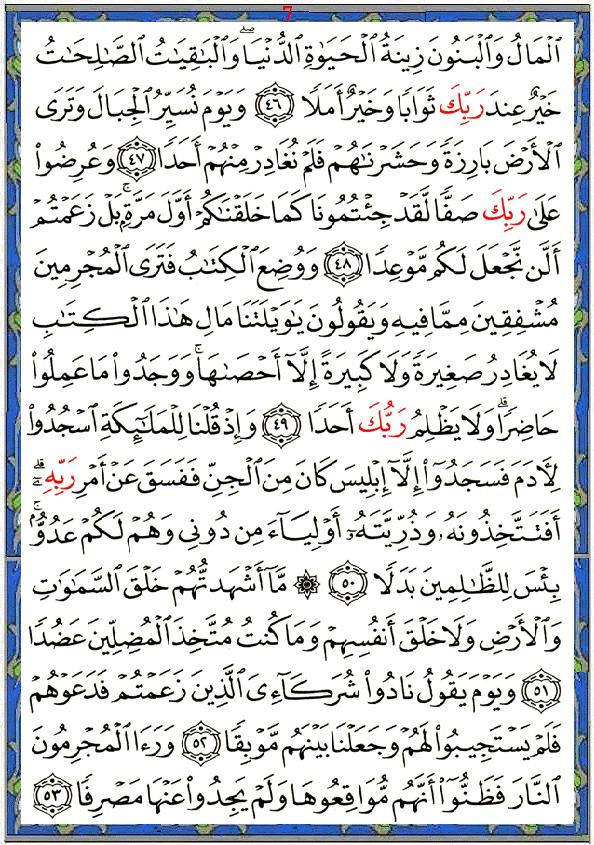 sourate al kahf